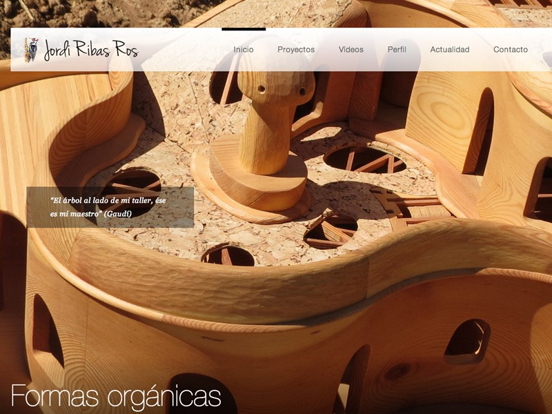 Web para un maestro artesano