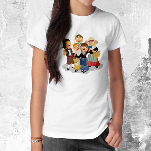 camiseta-nina-selfie-blanc